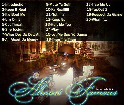 Lil Lody Almost Famous mixtape album cover