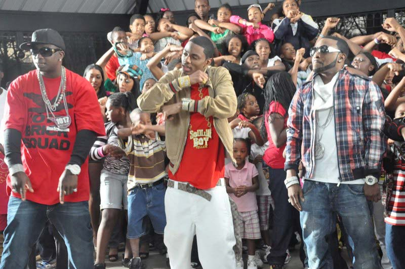 Soulja Boy Shawty Lo And Gucci Mane On The Set Of Video Shoot