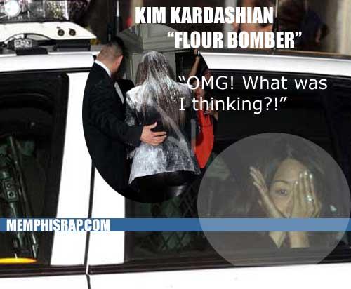 PHOTO: Kim Kardashian flour bombing