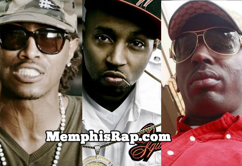 PHOTO: Rapper Future, Drumma Boy, Young Dolph