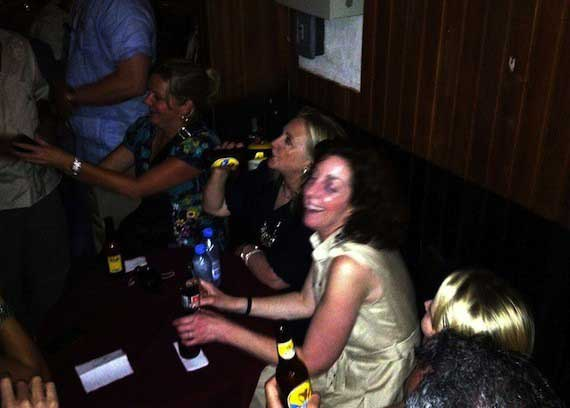 PHOTO of Hillary Clinton Drinking