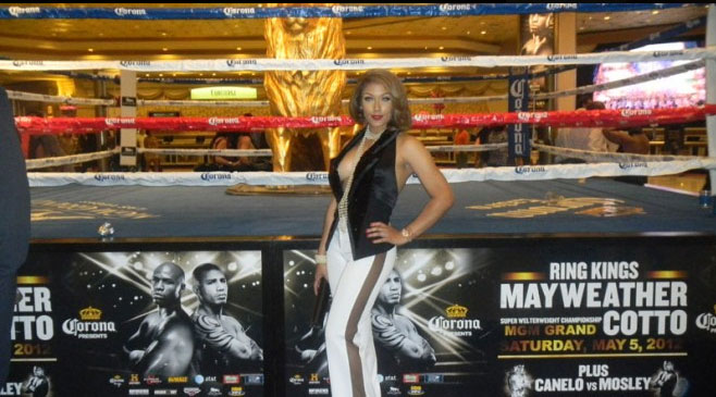 PHOTO: Miss Shantel Jackson at Floyd Mayweather, Cotto Fight