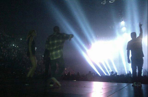 Photo of Jay-Z, Kanye West, Gwyneth Paltrow onstage