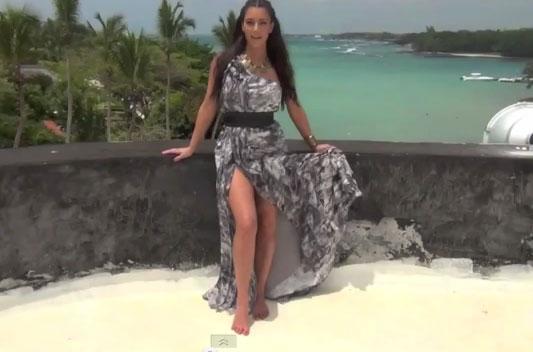 Photo of Kim Kardashian in Biggie cover in Dominican Republic