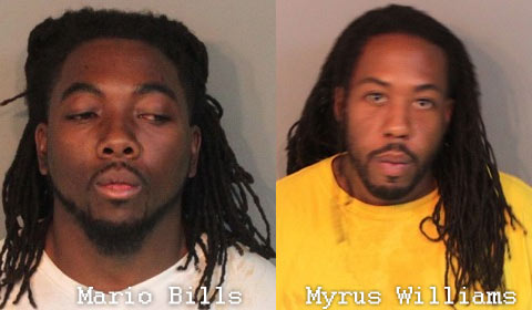 Photo Mugshot: Mario Bills and Myrus Williams