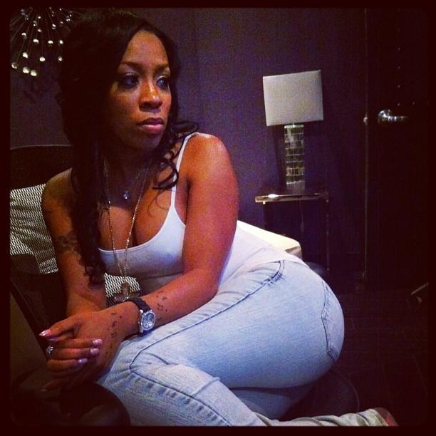 Photo of the beautiful K. Michelle of Love & Hip Hop Atlanta in studio