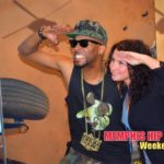 Photo of Drumma Boy and DeAnna Brown of MemphisRap.com at Army Strong event