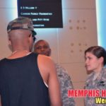 Photo of Drumma Boy talking with soldiers at Army Strong event
