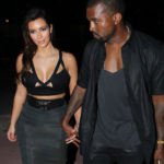 Picture of Kanye West, Kim Kardashian in see through skirt