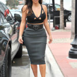 Picture of Kim Kardashian in see through skirt in Miami