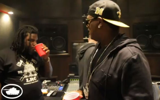 Photo of Master P taken from Louie Sheets studio session