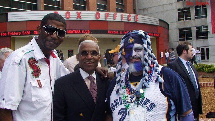 Photo of rapper Teflon Don and Memphis Mayor A.C. Wharton