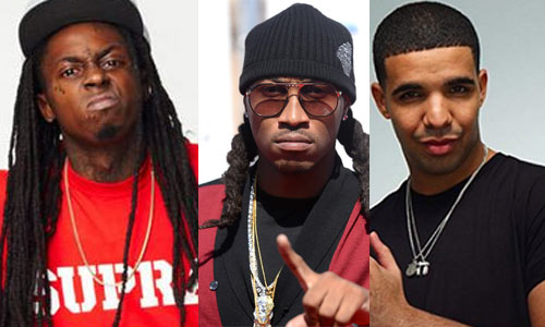 Photo – Rappers Lil Wayne, Future and Drake