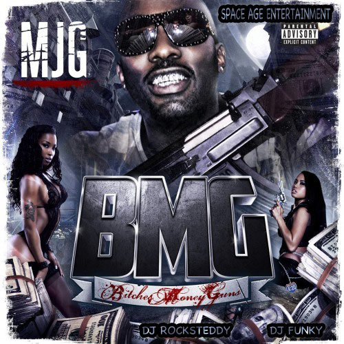 MJG Bitches Money Guns mixtape cover