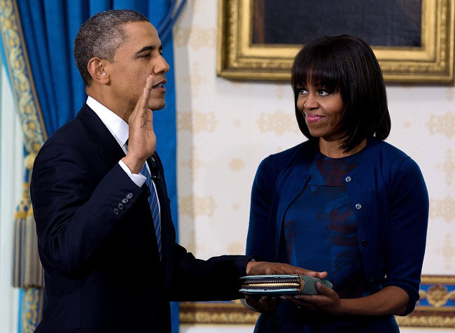 Obama 2nd Term As President Begins With Oath; Tells Daughter Sasha 'I Did It'