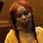 Photo of Pebbelz Da Model in court, accused of concrete butt injection murder