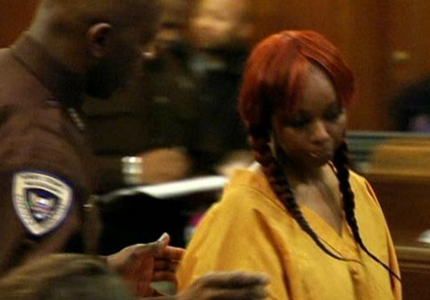 Photo of Pebbelz Da Model in court in Hinds Mississippi - January 2013