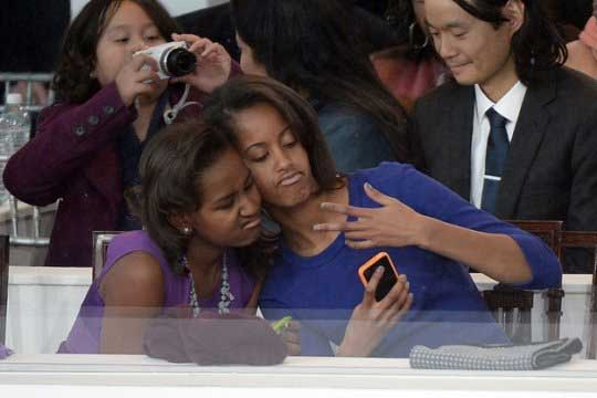 Photo of Sasha and Malia Obama Mean Mug