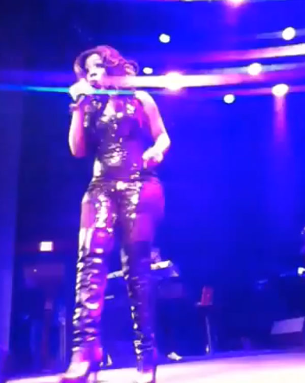 Photo of K. Michelle videotaped DC performance