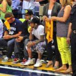 Photo of Lil Wayne Courtside at Memphis Grizzlies OKC Game at FedExForum