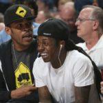 Photo of Lil Wayne Courtside at Memphis Grizzlies OKC Game at FedExForum 3