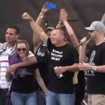 Kidnap victim Amanda Berry on stage with family at Roverfest