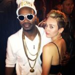 Photo of Juicy J and MIley Cryus backstage at his concert