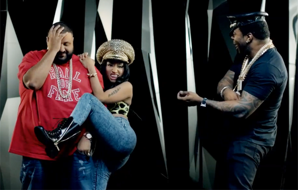 Nicki Minaj Twerks It In on DJ Khaled with One Leg Up