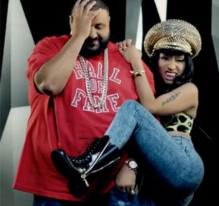 Nicki Minaj twerking on DJ Khaled