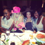 Picture of Nicki Minaj with girlfriends in Beverly Hills