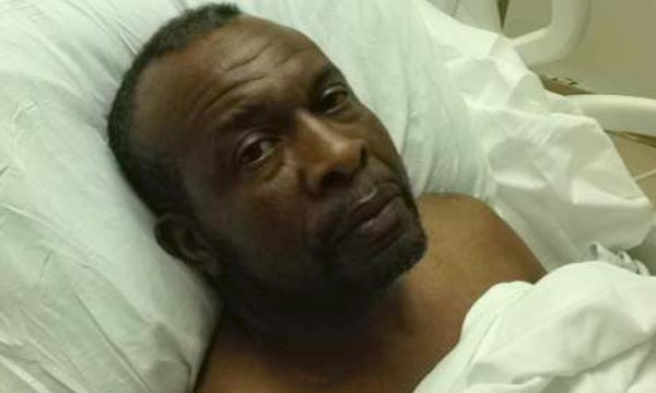 Roy Middleton lays in hospital bed after being shot by Florida Deputies