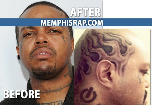 DJ Paul before and after – Flame Tattoo