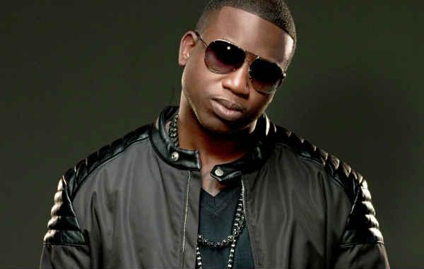 Rapper Gucci Mane in all black