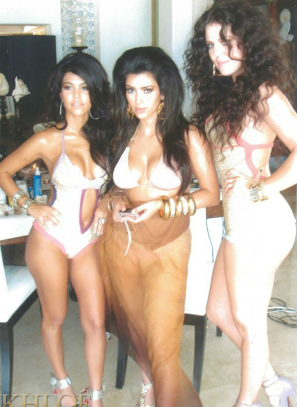 Kardashian sisters - Khloe Kim Kourtney bikini photo
