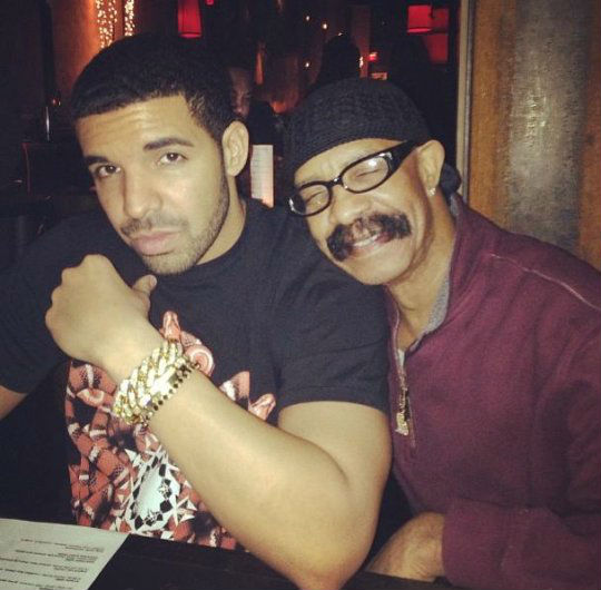 Photo of Drake and Dad Dennis Graham