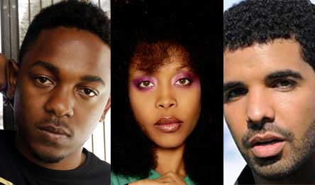 Photo – Kendrick Lamar, Erykah Badu and Drake
