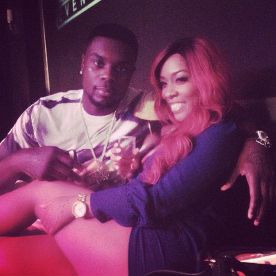 Photo of K. Michelle and Lance Stephenson
