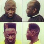 Man Gets Fade Hair Style Half Wig