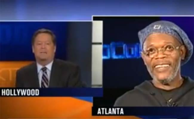 Samuel L. Jackson confused for Laurence Fishburne by KTLA reporter