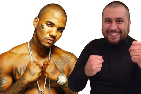 The Game and George Zimmerman celebrity boxing match