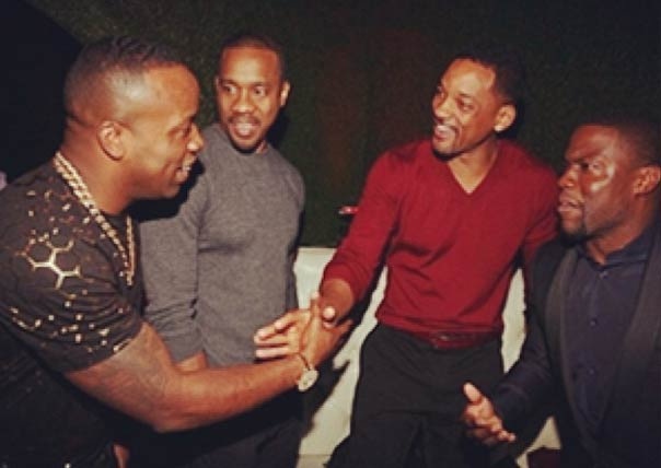 Rapper Yo Gotti with Will Smith, Kevin Hart and Duane Martin