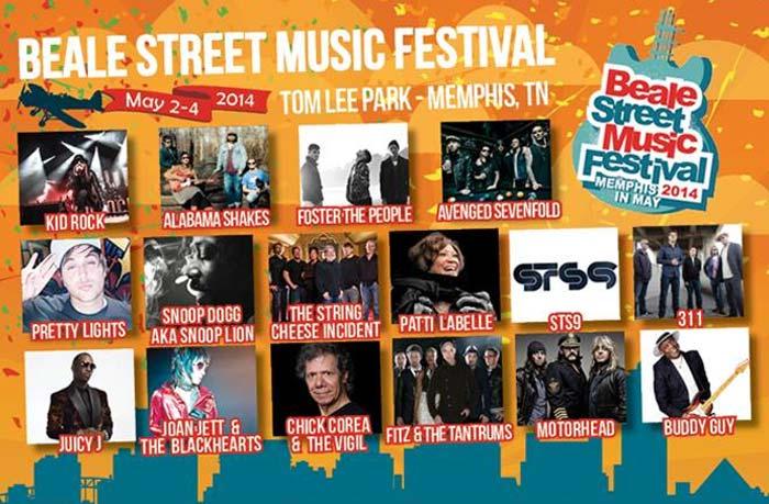 Beale Street Music Festival 2014 Lineup