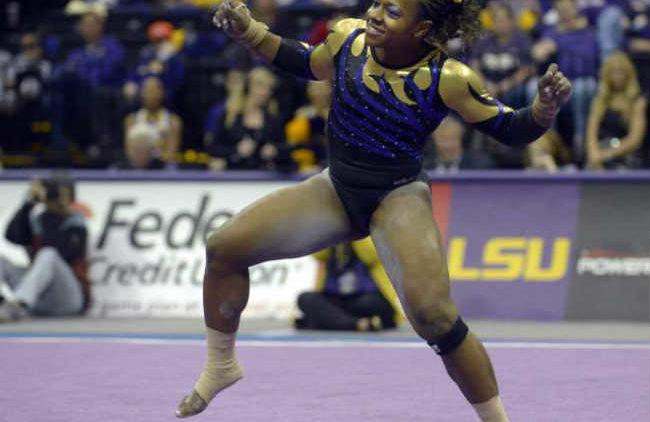LSU gymnast Lloimincia Hall