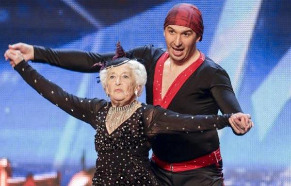 Paddy Jones 79 salsa on Britains Got Talent with Nico