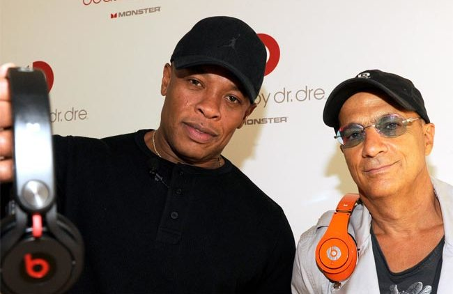 Dr Dre and Jimmy Iovine Beats Electronics headphones