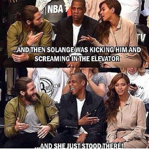 Jay-Z Solange Beyonce meme