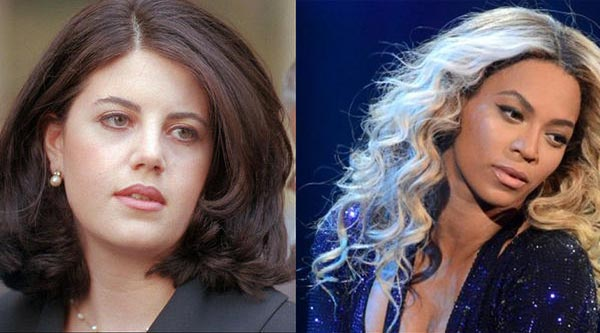 Monica Lewinsky and Beyonce
