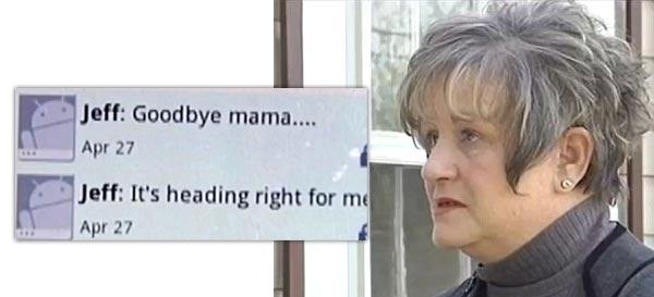 Regina Wood last text from son in Arkansas tornado Goodbye Mama