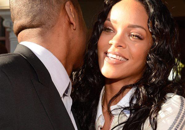 Rihanna and Jay-Z hugging
