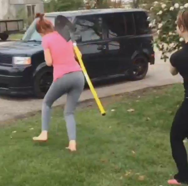 girl Miranda hit in head with shovel goes viral